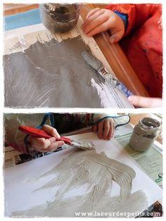 Bricolage en rouleaux de papier toilette #5 : un calendrier de l'avent |La cour des petits Voici, Vintage, Paper Strips, Diy Paper Crafts, Wraps, Bricolage Noel, Vintage Comics, Primitive