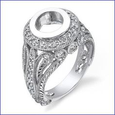 Gregorio 18K WG Diamond Engagement Ring R-439