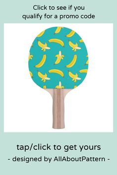 Shop Funny Gone Bananas illustrated pattern Ping-Pong Paddle created by AllAboutPattern. Banana Games, Banana Funny, Ping Pong Paddles, Indoor Games, Sticker Shop, Bananas, Funny Gifts, Pink And Green, Your Design