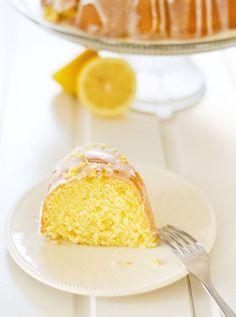 Hot milk lemon bundt cake