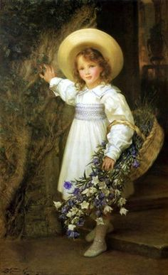 Harebells, Sigismund C. H. Goetze (1866 – 1939, English)--I AM A CHILD-children in art history blog