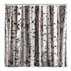 Birch Forest Shower Curtain | Tree Décor, Bath Accessories | UncommonGoods