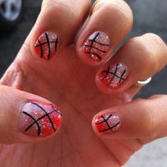 Basketball Nails :) by kenya