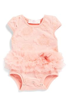 Popatu Flower Tutu Bodysuit (Baby Girls) available at #Nordstrom