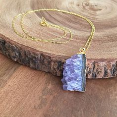 Amethyst Necklace Boho Jewelry