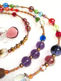 Misty Glass and Crystal Scarf Wrap Necklace by westhillstudiojewel, $41.20