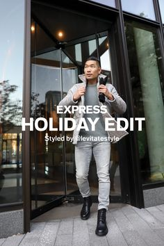 The upbeat, always-cool @levitatestyle shares his Express Holiday picks for the season.