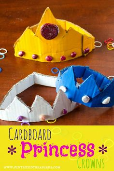 Princess (or Prince) Crown Craft. A fun craft that inspires royal, imaginative play.