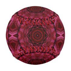 Pink fractal kaleidoscope pattern.
