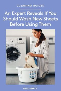Do You Really Need to Wash New Sheets (and Clothes) Before You Use Them? We Asked an Expert | A textile expert reveals if you really should wash new bed sheets and even clothes after purchasing them. Plus, other cleaning hacks and laundry guides to help you wash any item. #cleaningtips #cleanhouse #realsimple #stepbystepcleaning #cleaninghacks #cleaningguide