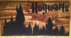 Hogwarts castle string art Harry Potter