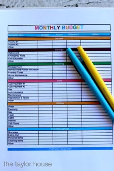 Family Budget Worksheet  Worksheets Budgeting And Free