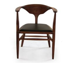 Peking - A / FSC-certified American walnut  Leather, fabric or papercord seat  design by Working Hands  Factory / Dimensions in inches  W23.5 D20 H28