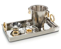 Limited Production Design: Elegant Polished Nickel 6 Piece Bar Set