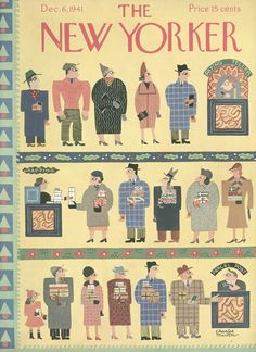 The New Yorker - Saturday, December 6, 1941 - Issue # 877 - Vol. 17 - N° 43 - Cover by : Charles E. Martin