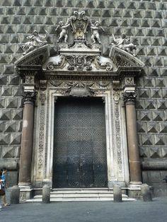 Chiesa del Gesu, Spaccanapoli - Naples - Italy - door