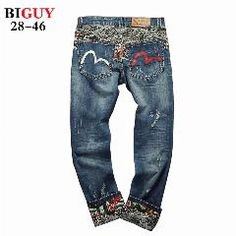 [ 38% OFF ] Big Guy Store Tall Plus Size 38 40 42 44 46 Scratched Mens Baggy Jeans Hip Hop Jeans Men Denim Printed Straight Pants 234Jeans