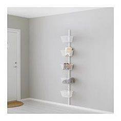IKEA - ALGOT, Wall upright and basket, The parts in the ALGOT series can be combined in many different ways and easily adapted to your needs and space.Can also be used in bathrooms and other damp indoor areas.You click the brackets into the ALGOT wall uprights wherever you want to have a shelf or accessory – no tools needed.