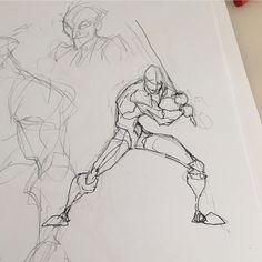 Le croquis est l'art de la capture ou transcription d'une scène visuelle sur un support en deux Anatomy Sketches, Anatomy Drawing, Anatomy Art, Art Drawings Sketches, Face Anatomy, Cartoon Sketches, Art Illustrations, Figure Drawing Reference, Drawing Reference Poses