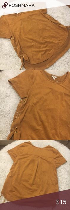Rib lace up top Perfect color for this season. New with tag eyeshadow clothing ,size small true to size with a comfy chill fit  Feel free to ask any questions or offer  Ship within 1-2 days  #010 Tops Blouses