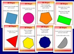 Great activities and printables for teaching 2D and 3D shapes.