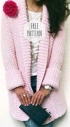 Most up-to-date Free Crochet cardigan free patterns Ideas Sanfte Strickjacke Gratisanleitung Gilet Crochet, Crochet Coat, Crochet Clothes, Crochet Shrugs, Crochet Sweaters, Knit Shrug, Crochet Shawl, Sewing Clothes, Diy Clothes