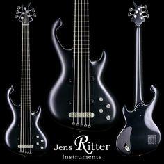 A Black & Chrome Cora 5-string #bass