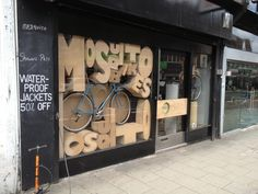 Shop display letters made of cardboard