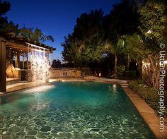 Great way to incorporate a water feature and privacy screen!