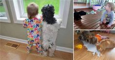 Adorable pictures of kids acting like their animals