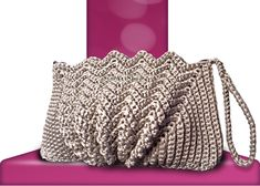 """New Cheap Bags. The location where building and construction meets style, beaded crochet is the act of using beads to decorate crocheted products. """"Crochet"""" is derived fro Crochet Shell Stitch, Crochet Tote, Crochet Handbags, Crochet Purses, Bead Crochet, Purse Patterns, Crochet Patterns, Butterfly Bags, Yarn Bag"""