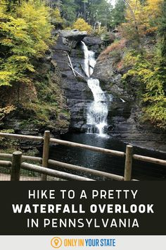 Take a scenic staircase hike to a beautiful waterfall in Pennsylvania. It's a natural wonder that you don't want to miss and the trail is accessible most of the year. Winding Stair, Best Bucket List, Hidden Beach, Beautiful Waterfalls, Park Service, Natural Wonders, Pennsylvania, Travel Destinations, Trail