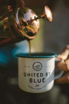 Enjoy your morning coffee and make today awesome! A hot cup of coffee to make the day right. But even better – our enamel mugs are back in stock! In a new (one of a kind) navy! + United By Blue Enamel Mug But First Coffee, I Love Coffee, Coffee Break, My Coffee, Coffee Drinks, Morning Coffee, Coffee Shop, Coffee Cups, Tea Cups