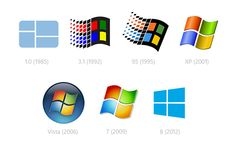 Now we have the new Windows 8 logo, which in some ways goes back to the single colour simplicity of the very first windows logo: