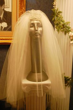 Priscilla Presley's Wedding Veil At the Graceland Mansion in Memphis, Tennessee