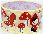 cute big Little Red Riding Hood Deco Tape toadstool