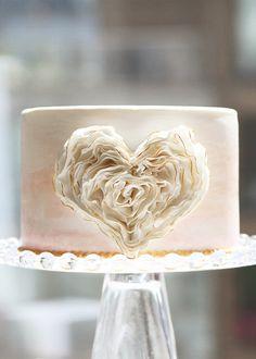 Beautiful Cake Pictures: Amazing Ruffled Heart Love Cake: Birthday Cakes, Elegant Cakes, Wedding Cakes by nell Gorgeous Cakes, Pretty Cakes, Amazing Cakes, Beautiful Cake Pictures, Watercolor Cake, Valentine Cake, Valentines, Ruffle Cake, Ruffles