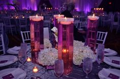 diy tall vase centerpieces | centerpieces: easy to do / tall square vase with rhinestone and ...