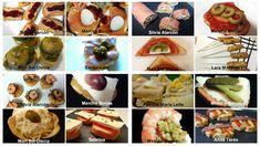 Canapés fáciles y rápidos. 16 recetas de canapés que se preparan en poco tiempo. Presentaciones sobre pan o volovanes. Recetas fáciles y vistosas.