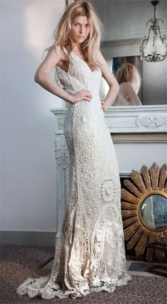 This crocheted dress is amazing