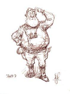 A Sketchy Past, The Art of Peter de Sève: Arthur Christmas