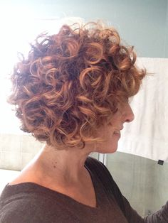 Curly A-line Bob
