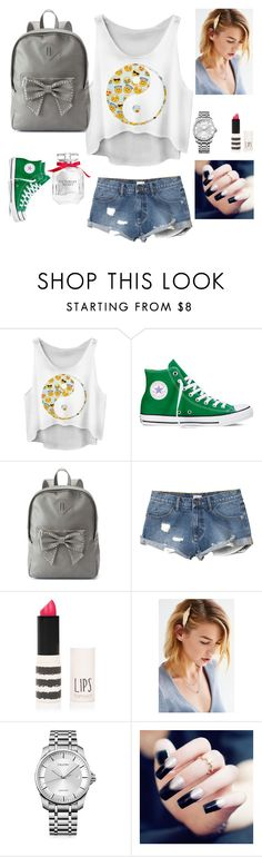 """""""A happy day!!!"""" by edypop ❤ liked on Polyvore featuring Converse, Candie's, RVCA, Topshop, Calvin Klein, Victoria's Secret, women's clothing, women, female and woman"""
