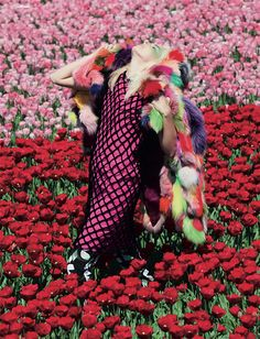 Photography by Vivian Sassen & Styling by Katie Shillingford; garments from Pam Hogg, Vivienne Westwood and Sonia Rykiel.