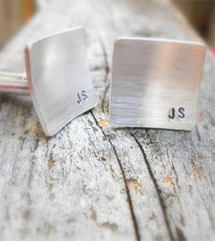 Handmade personalized Cuff Links for Fathers Day on Etsy. Super price.