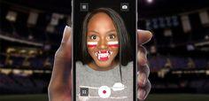 Nissan Diehard Fan | College Football Face Paint Interactive Camera App  | Award-winning Digital Design Apps