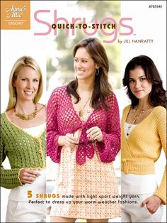 Crochet - Accessory Patterns - Poncho, Shrug & Wrap Patterns - Quick-to-Stitch Shrugs