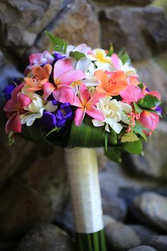 Bring that vibrant island touch to your wedding day - Pacific Resort Rarotonga #pacificresort #cookislands #wedding #weddingbouquets