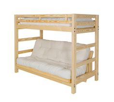 Liberty Futon Bunk Bed Frame - Unfinished Solid Wood