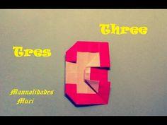 Origami - Papiroflexia. Número Tres / Number Three